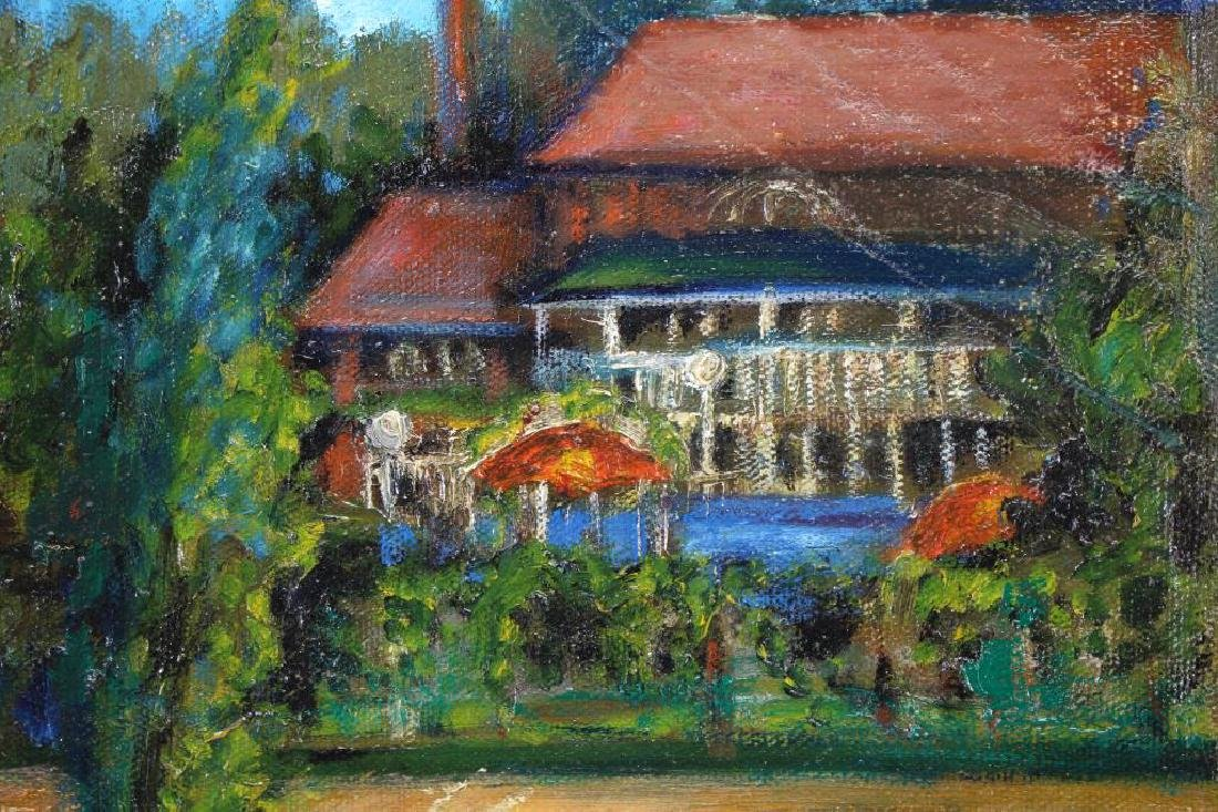 20th C Painting of an Estate in a Spring Landscape - 2