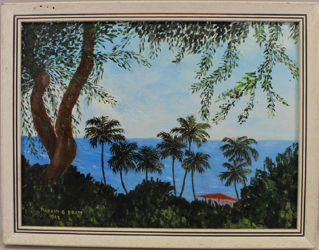 Pratt, 1962 Painting of Honolulu Hawaii