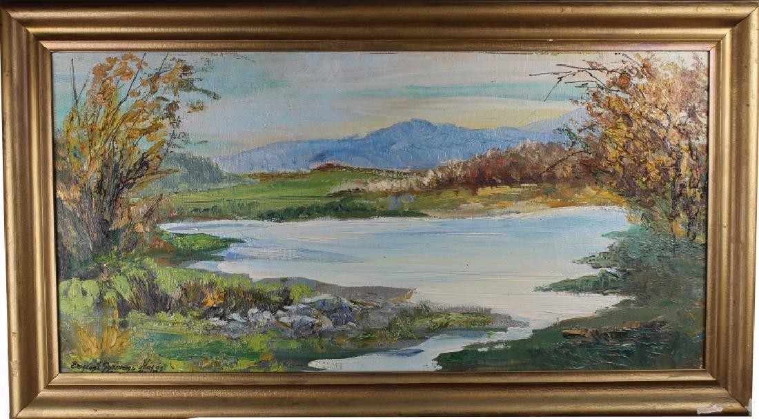 Ernest Gyimesi Kasas (1901-) Landscape