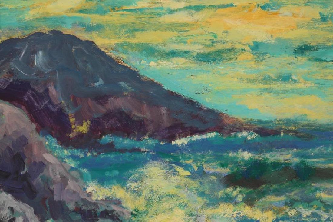 American School Painting in Gilt Summit Frame - 2