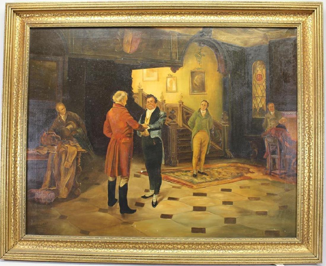 A. Rixen, Antique Interior Scene