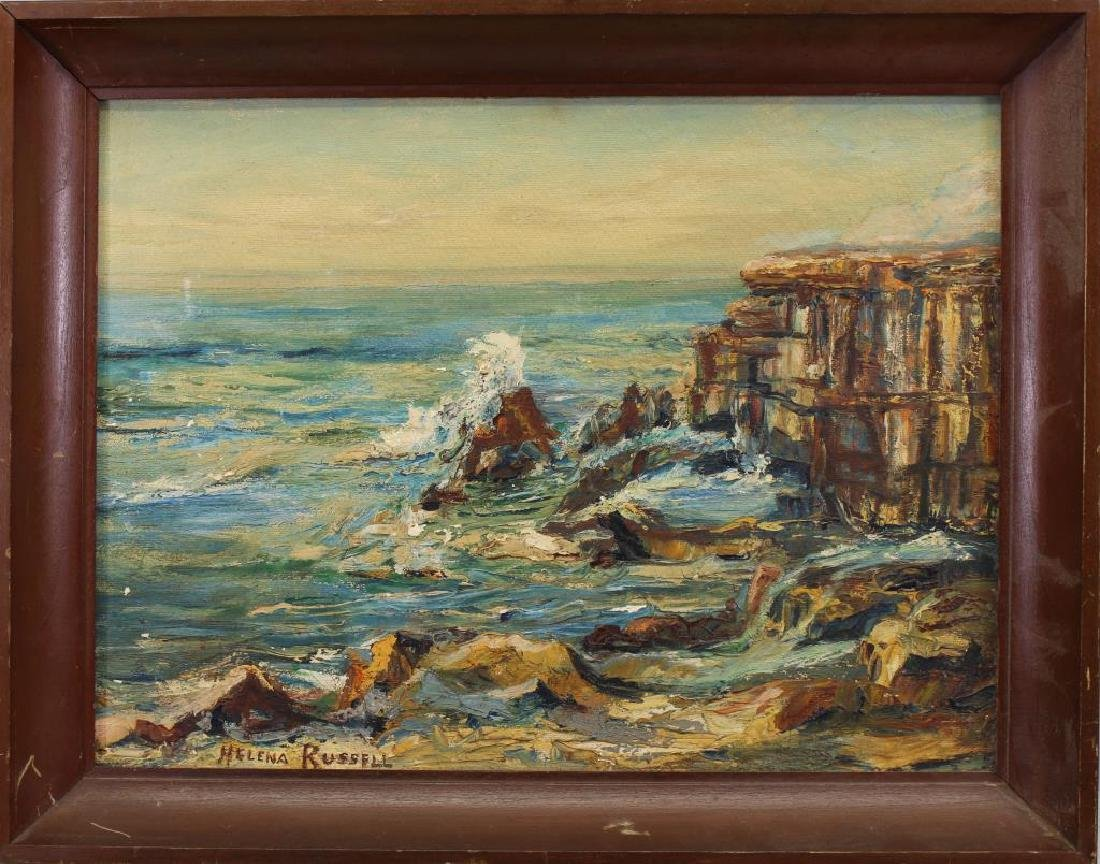 Helena Russell, Coastal Scene w/ Crashing Waves