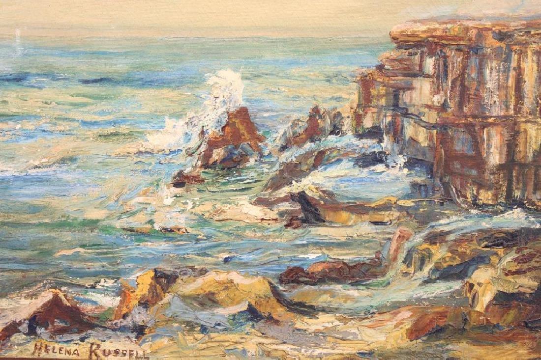 Helena Russell, Coastal Scene w/ Crashing Waves - 2