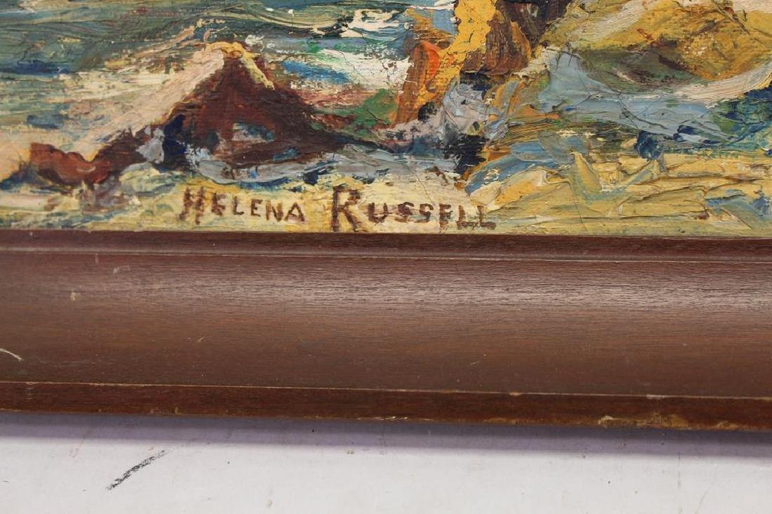 Helena Russell, Coastal Scene w/ Crashing Waves - 3