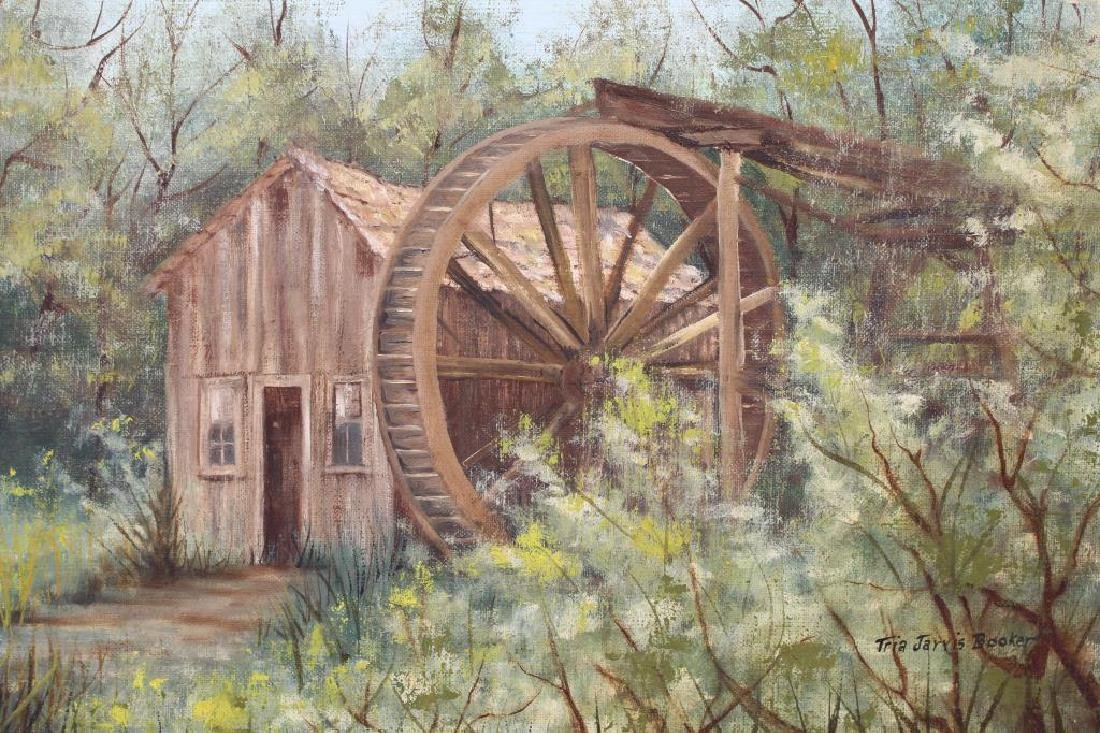 Tria Booker, Painting of a Mill in a Landscape