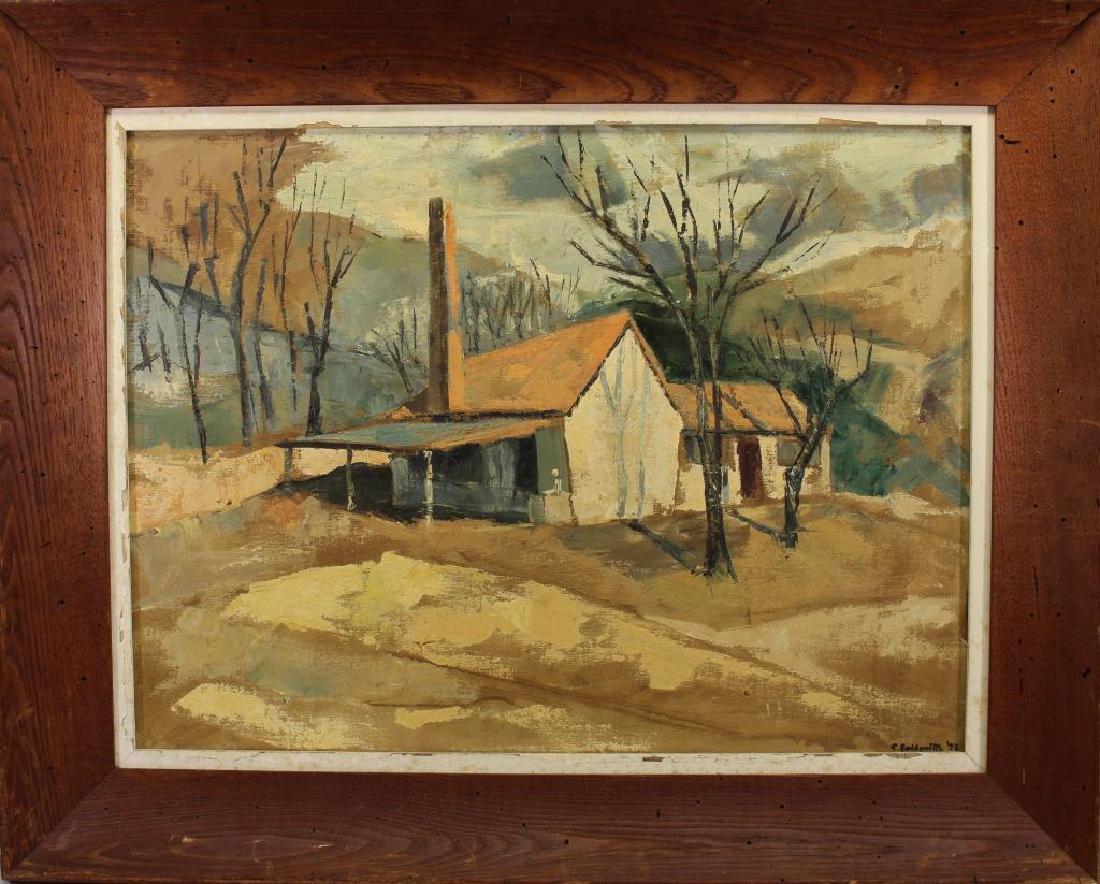 S. Goldsmith, Rural American Landscape w/ House