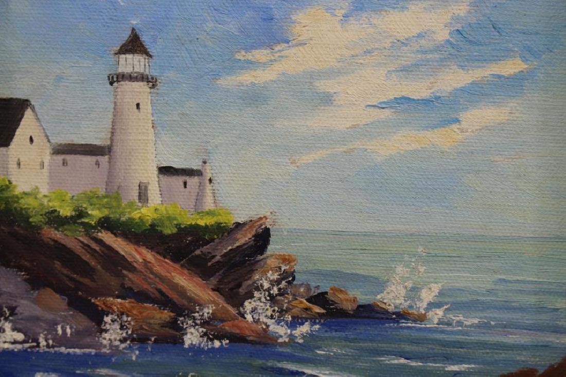 (2) New England Coastal Scenes, Signed - 2