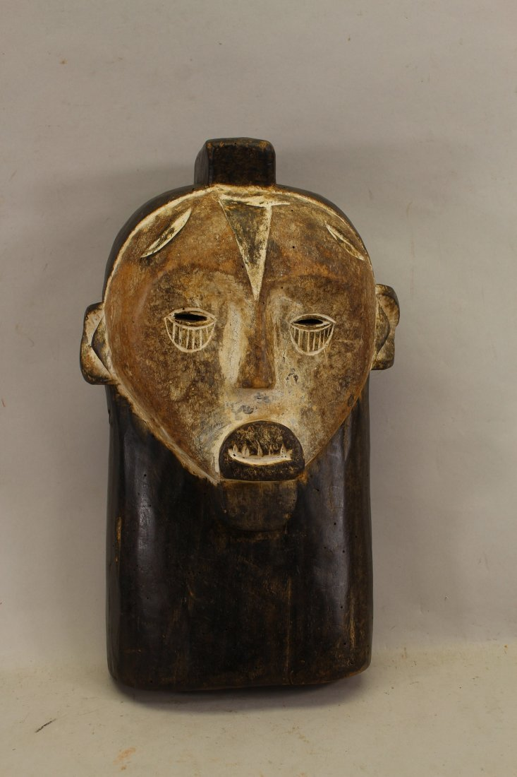 African Carved Wooden Chana (Congo) Mask
