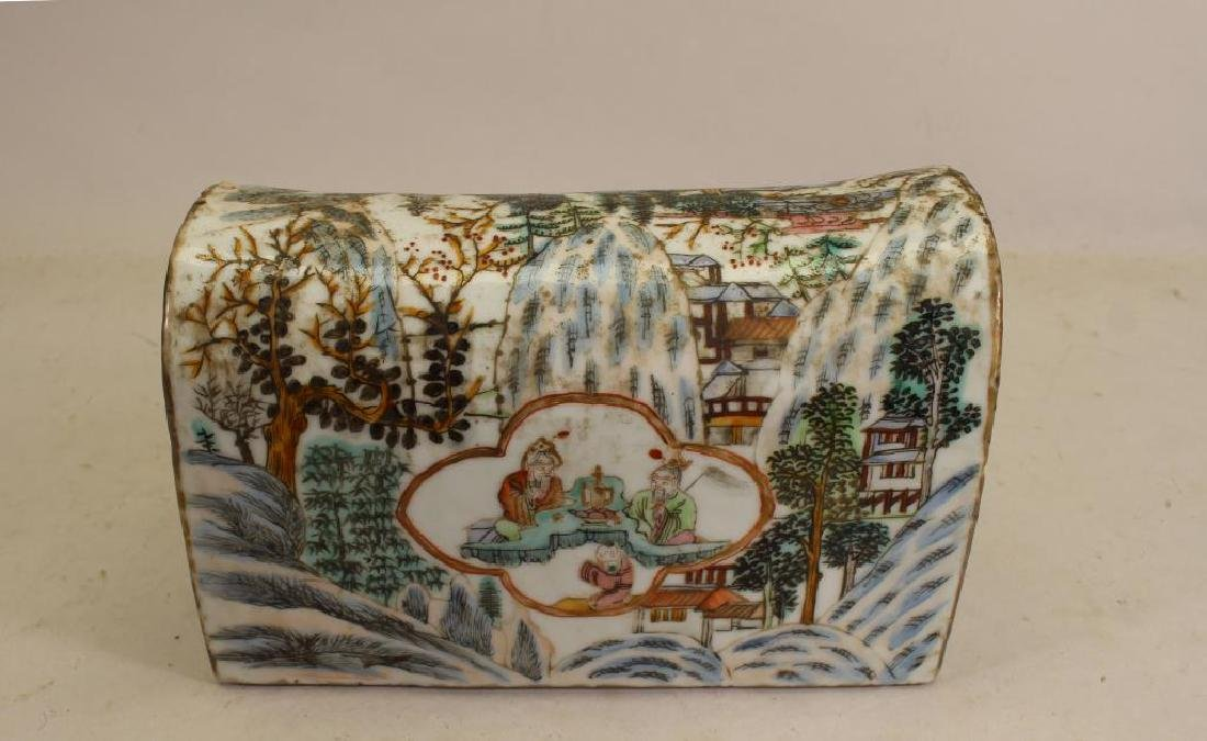Chinese Qing Dynasty Porcelain Pillow
