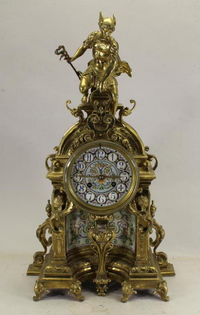Important Antique Figural French Clock, Tiffany