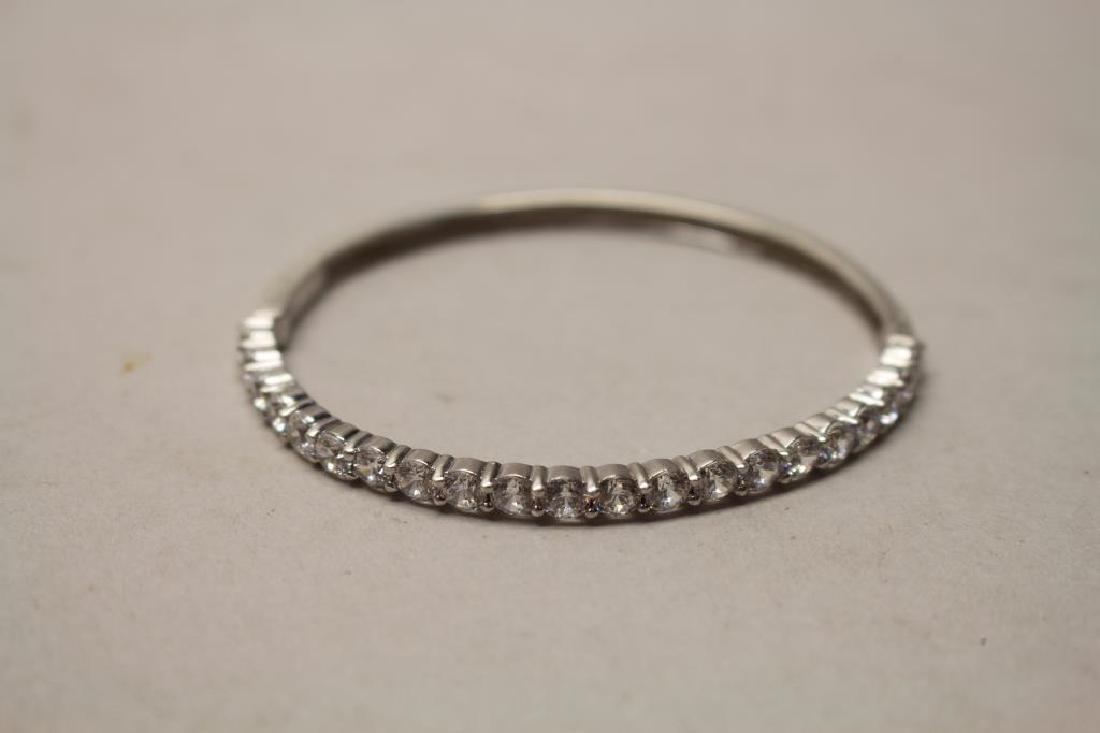 CZ & Sterling Silver Bracelet