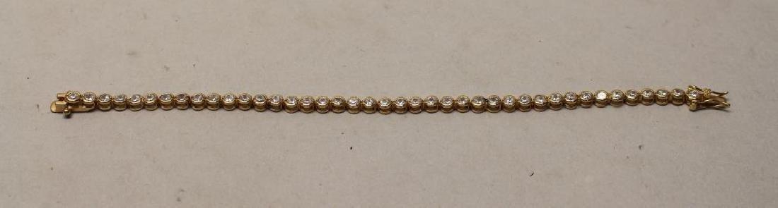 Gilded Sterling & CZ Bracelet