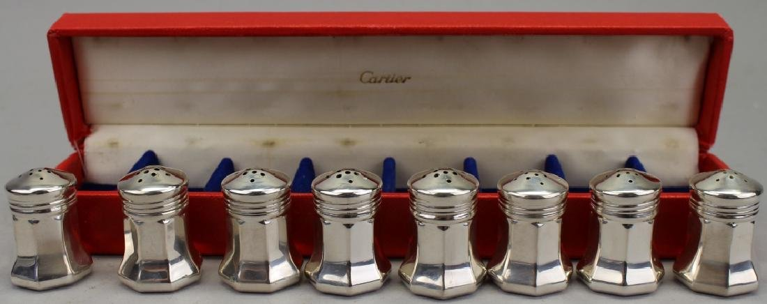 (8) Sterling Silver Cartier Salt/Pepper Shakers