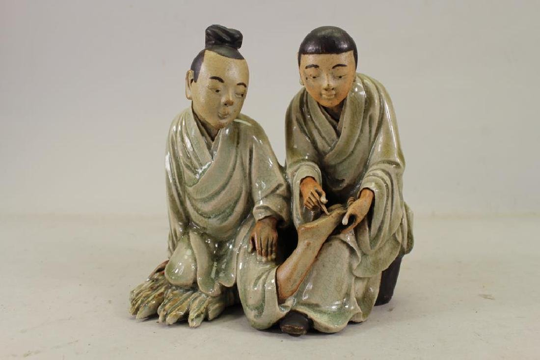Antique Chinese Glazed Clay Figures