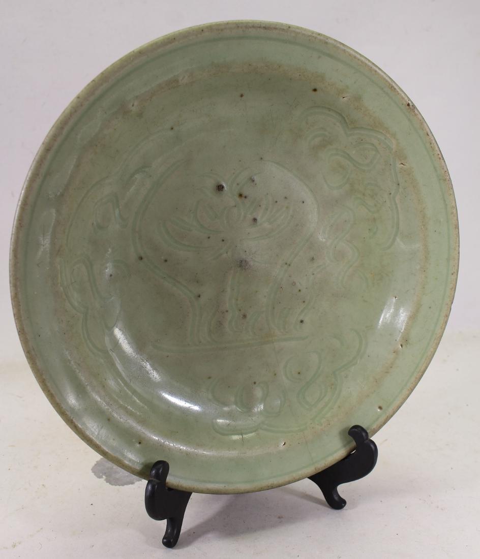 Chinese Longquan Style Celadon Glazed Dish