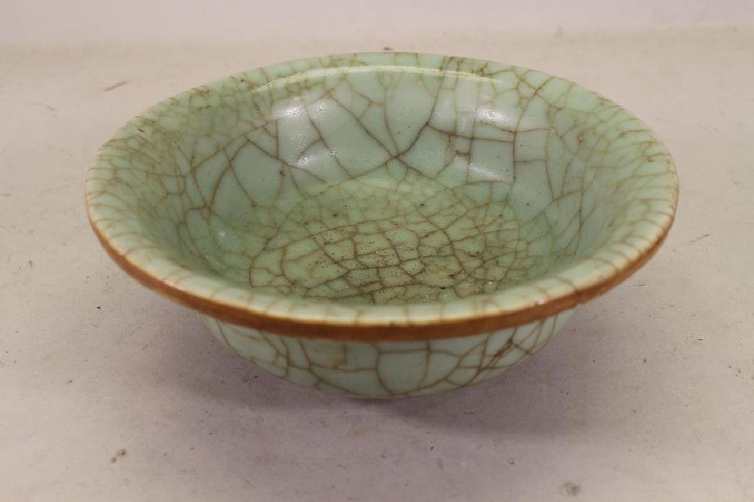 Chinese Crackleware Celadon Glazed Bowl