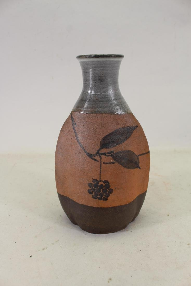 Chinese Glazed Pottery Floral Vase