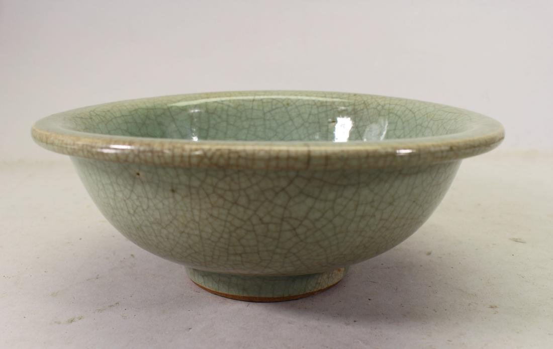 Chinese Crackleware Glazed Celadon Bowl