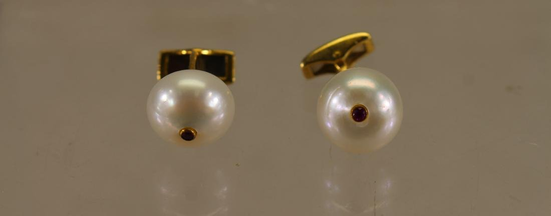 Pearl/Ruby Cufflinks