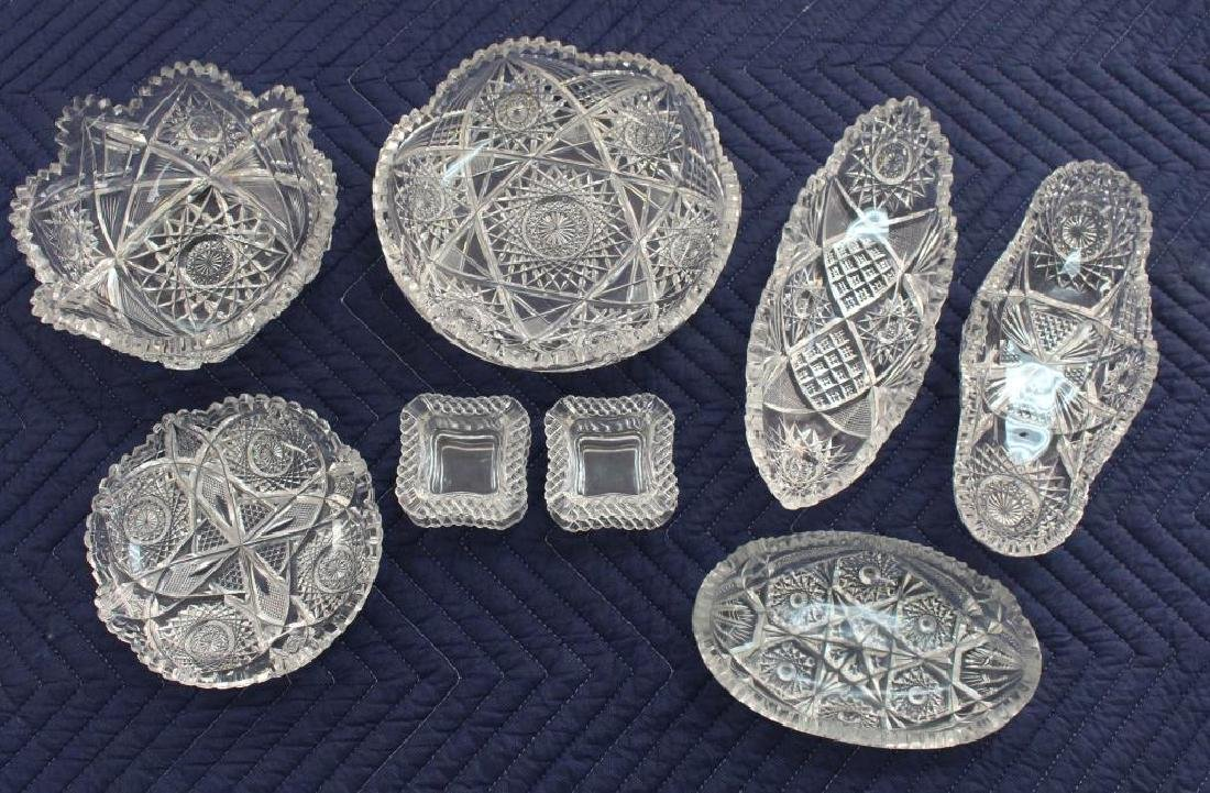 (10) Assorted Cut Crystal Serving Pieces