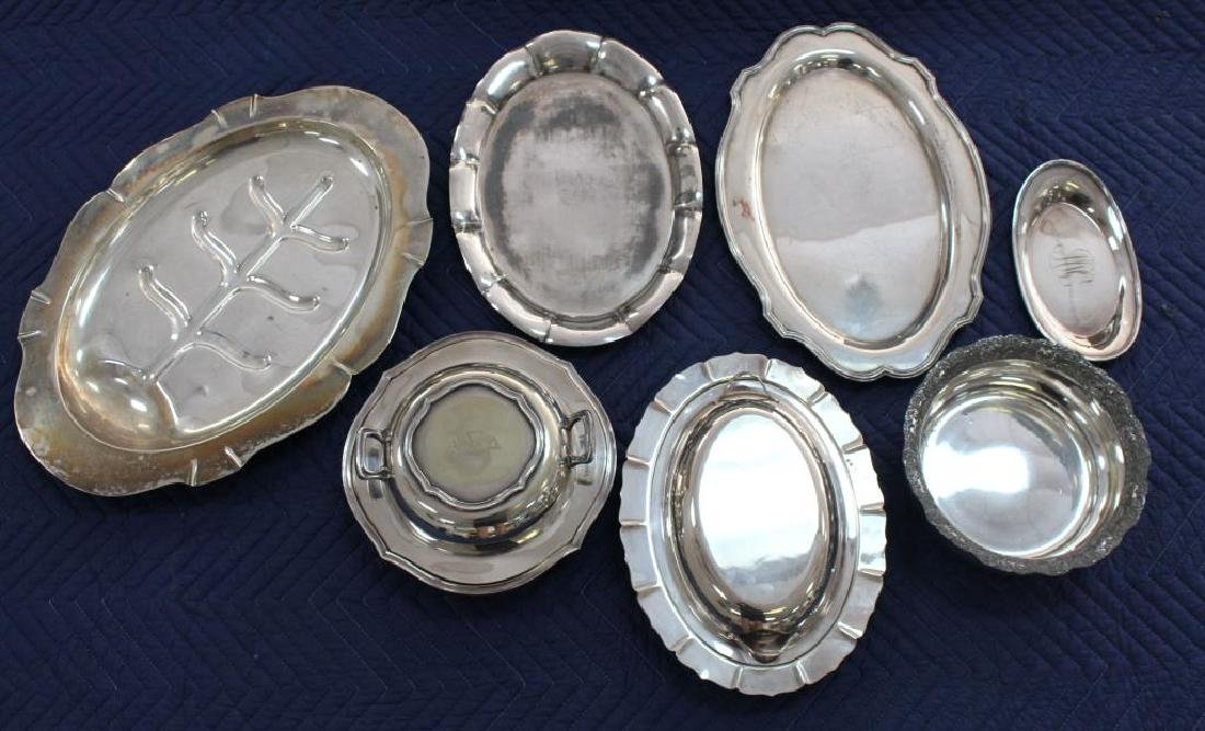 (7) Misc. Silverplate Serving Pieces