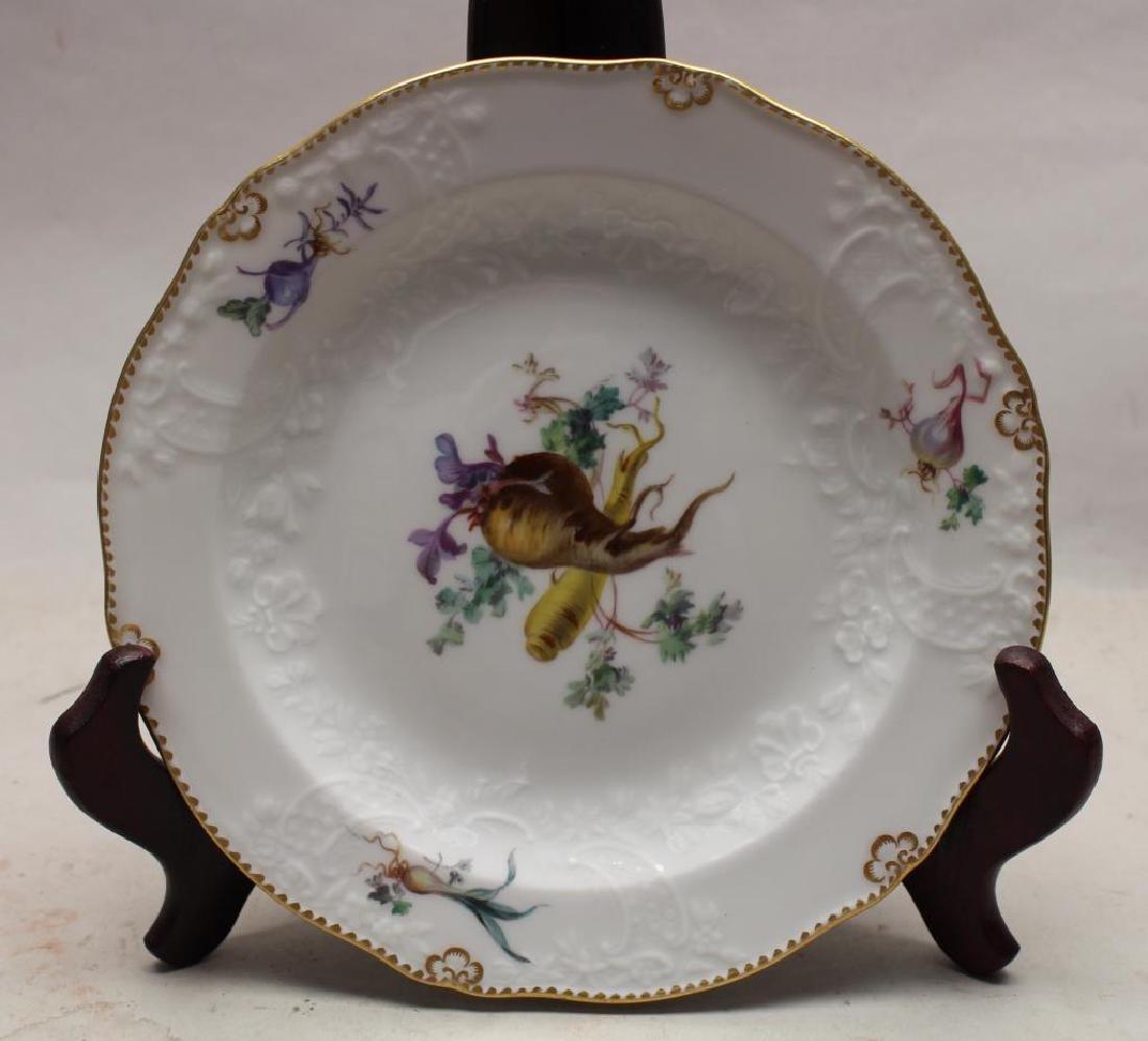 Meissen Still Life Motif Porcelain Saucer