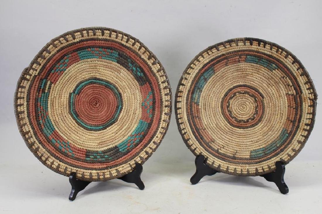 Decorative Pair of Zulu Woven Trays