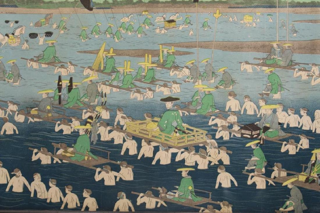 After Hiroshige, Antique Japanese Woodblock - 2