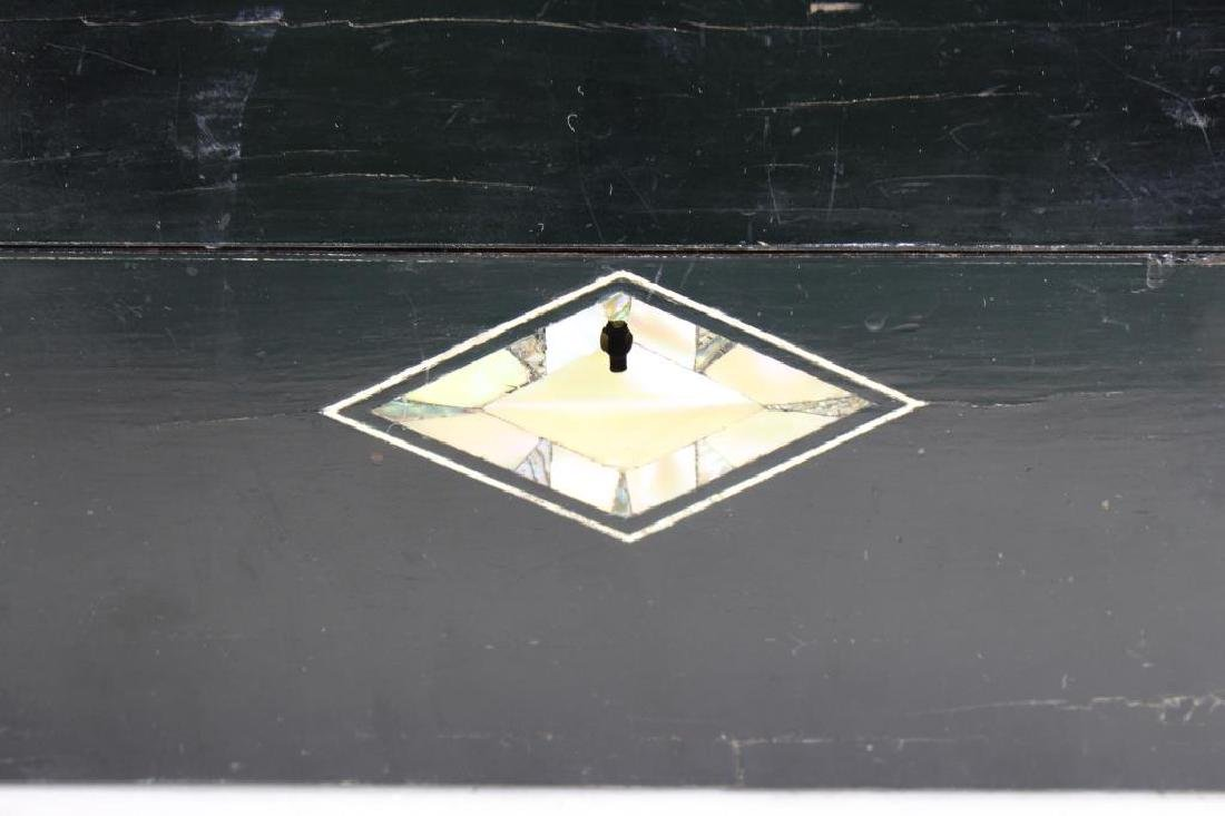 Black Lacquer & Mother of Pearl Inlay Jewelry Box - 2
