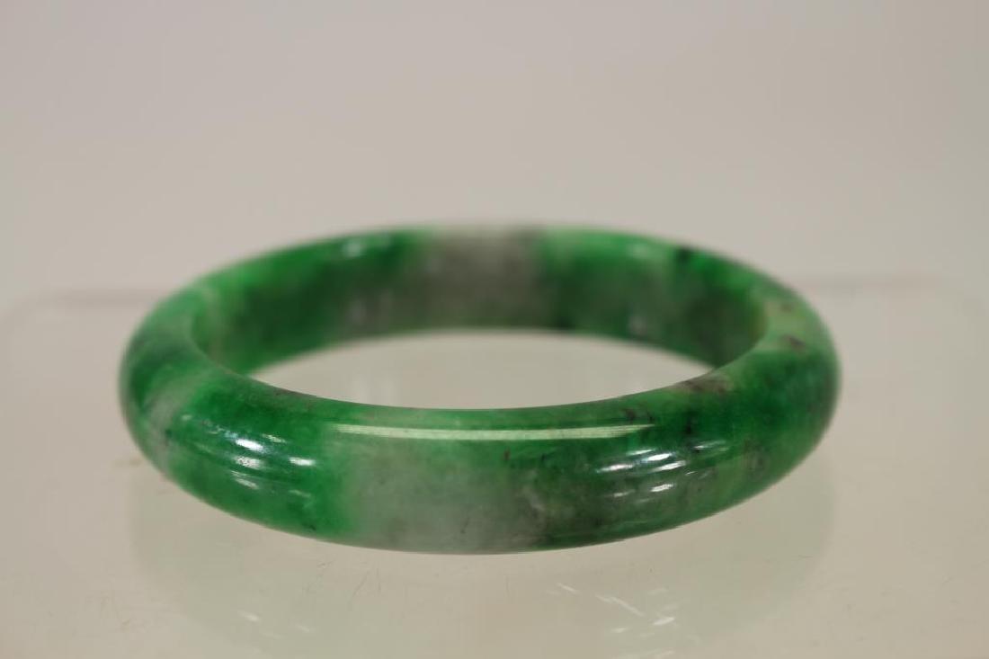 Chinese Stone Green Bangle