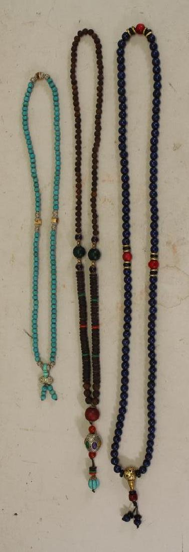 (3) Chinese Beaded Necklaces