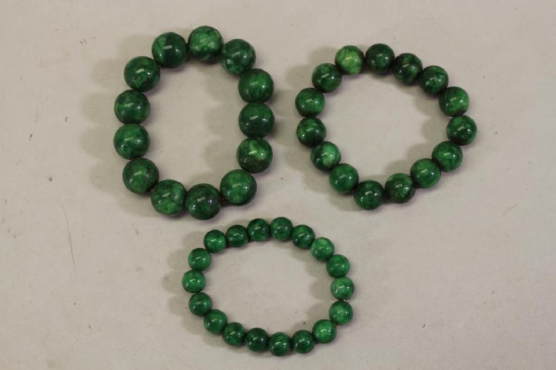 (3) Chinese Beaded Bracelets