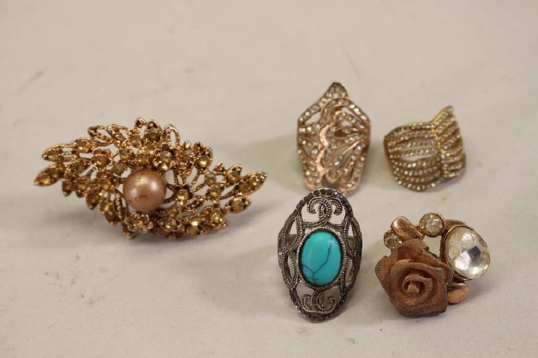 (5) Assorted Mixed Stone Rings