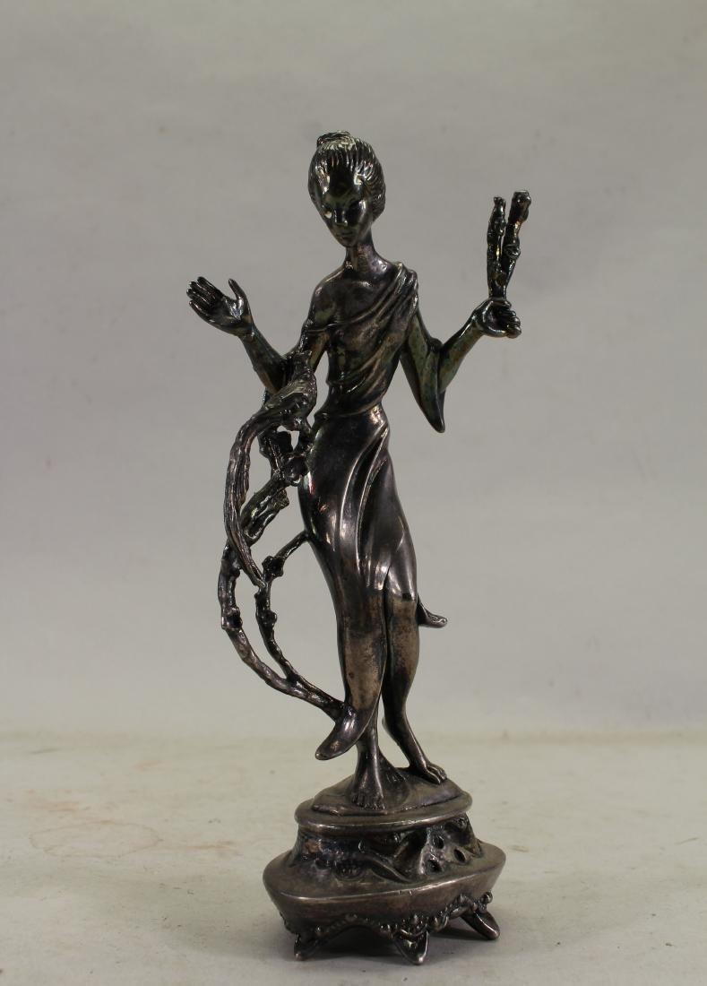 .925 Sterling Silver Woman Figure