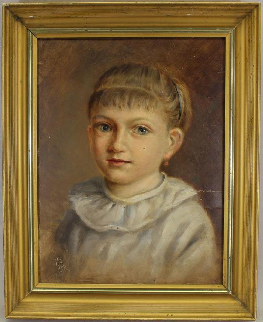 Signed, American School Portrait of a Young Girl