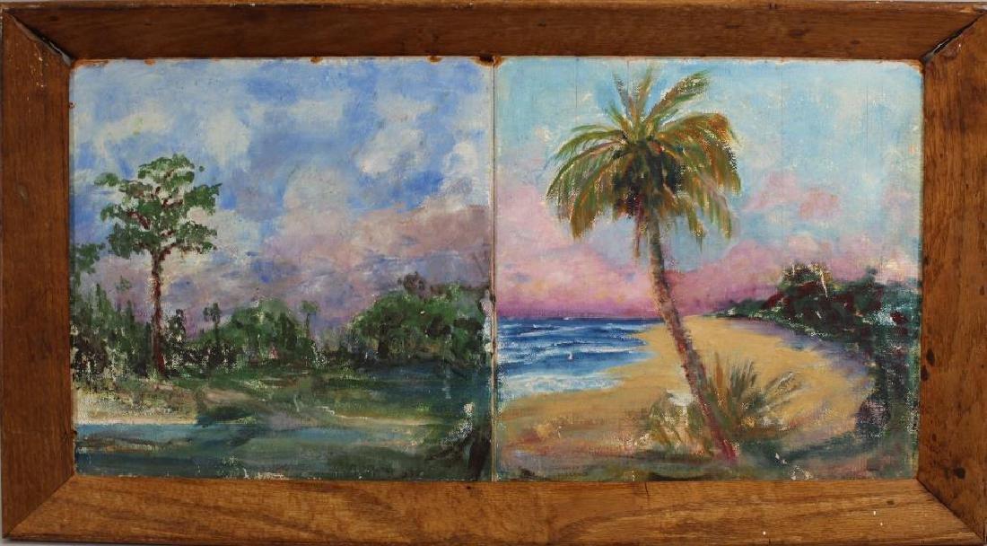 (2) Florida School Paintings, Framed