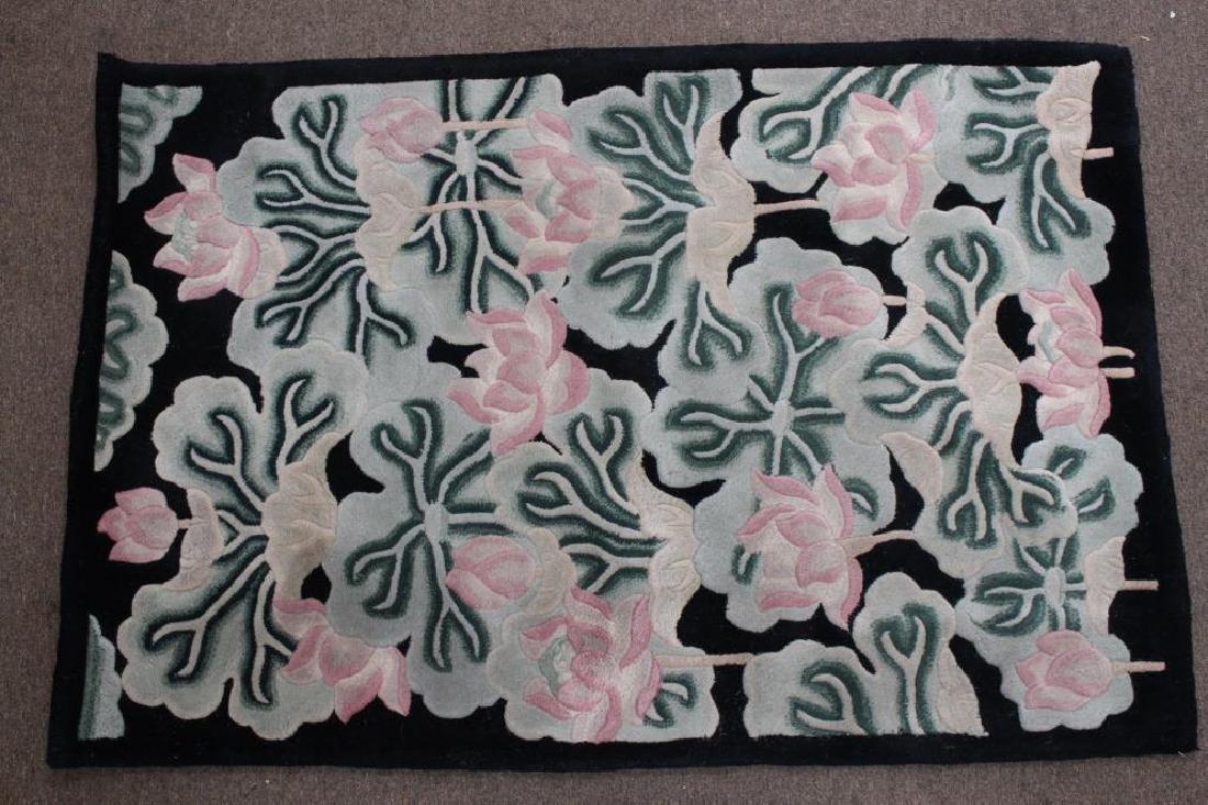 Modern Floral Motif Floor Rug