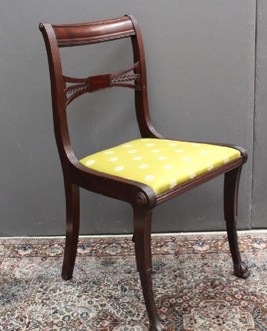 Antique Upholstered Mahogany Chair