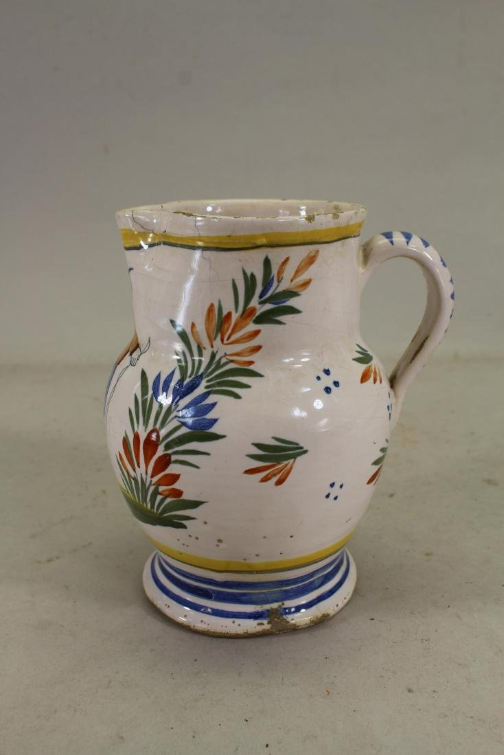 Antique Henriot Quimper Porcelain Pitcher