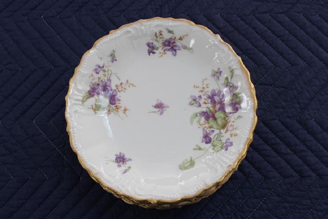 (9) French Limoges Floral Dishes