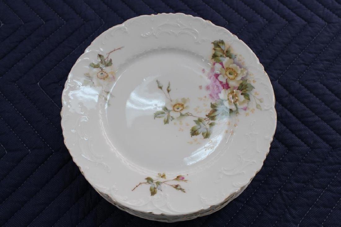 (6) German Porcelain Floral Dishes
