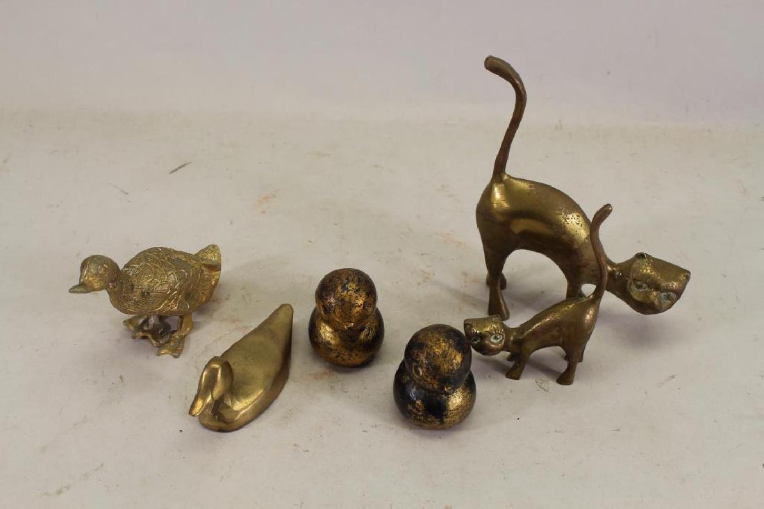 (6) Vintage Bronze Animals