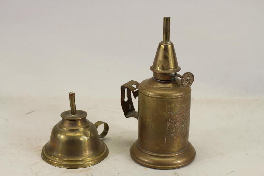 (2) Vintage Brass Oil Cans