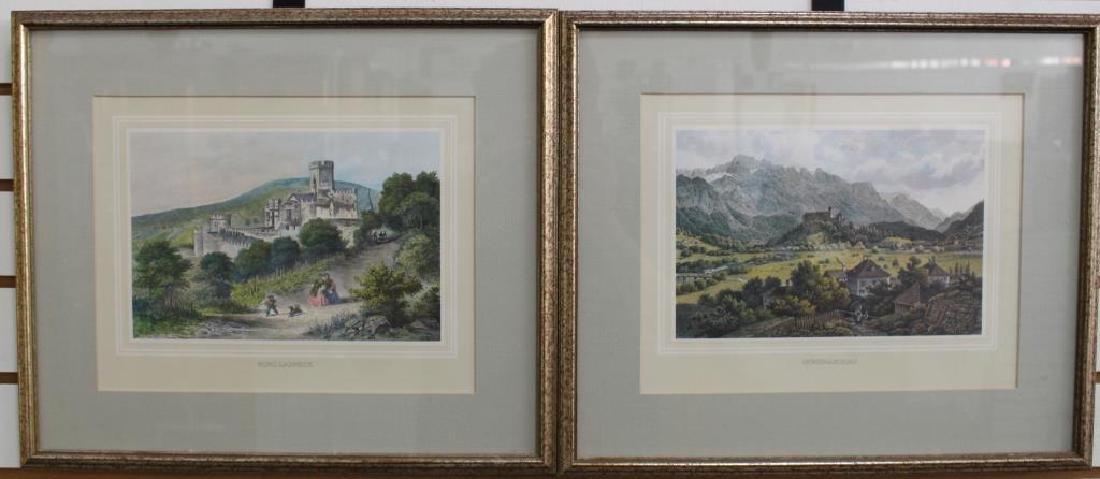 (2) Framed Antique German Prints