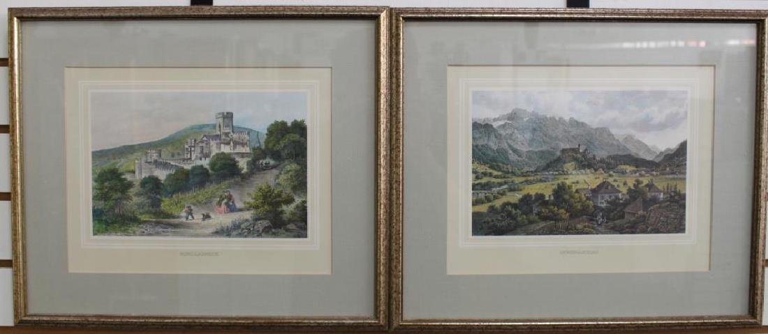 (2) Framed Antique German Prints