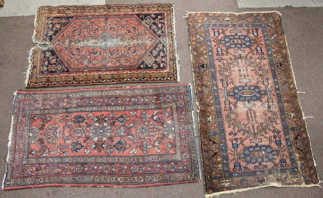 (3) Semi Antique Persian Rugs