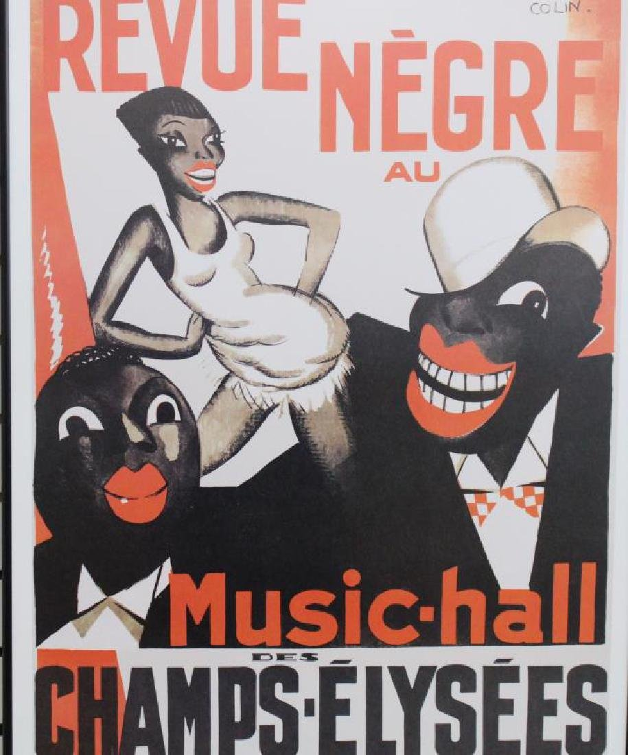 """Revue Negre"" Music Hall Framed Poster"