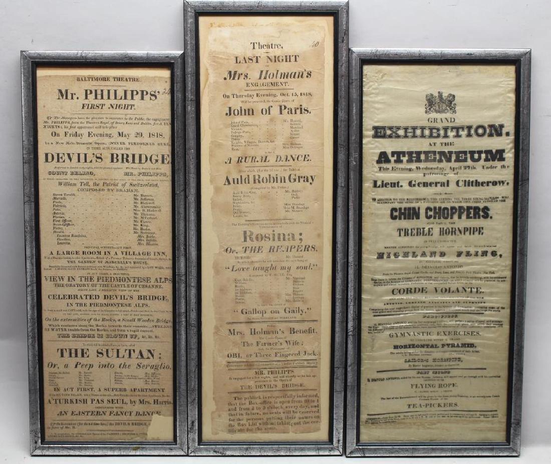 (3) Antique Theater/Movie Playbills