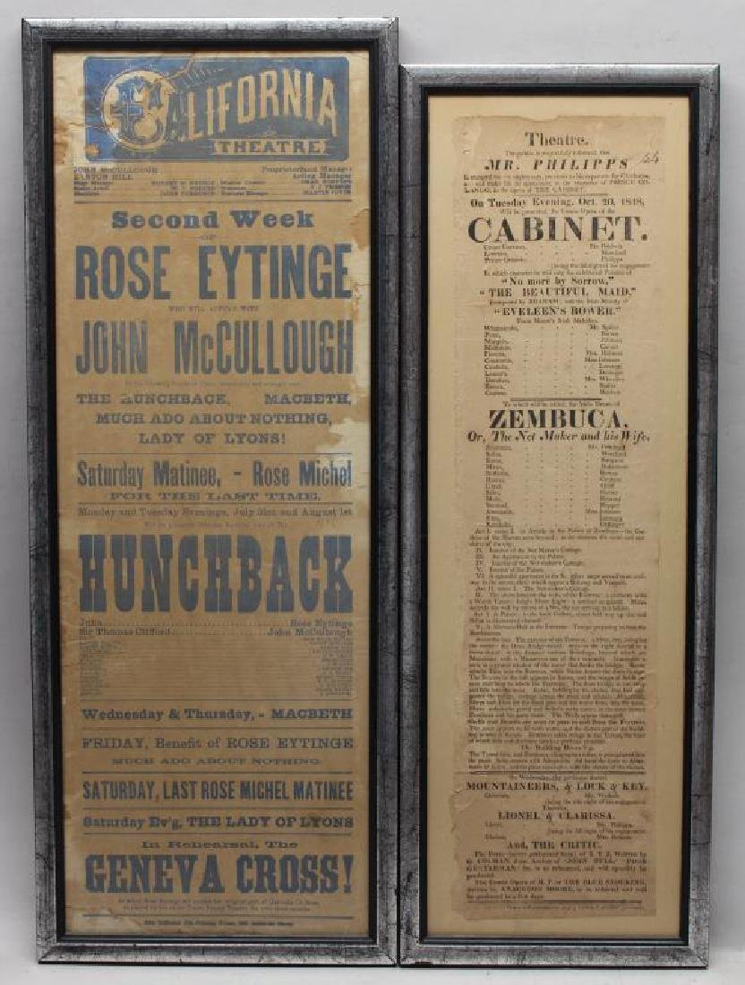 (2) Antique Theater/Movie Advertisements