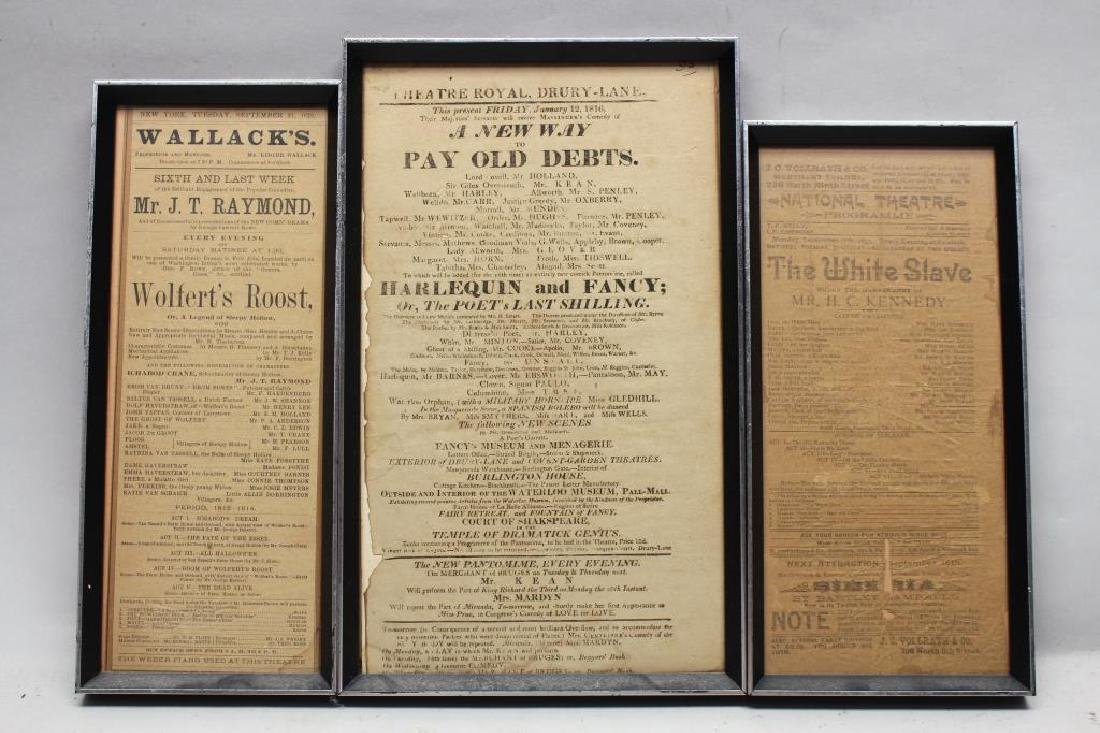 (3) Antique Theater/Movie Advertisements